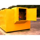 Elevated Fuel Safe with cabinet